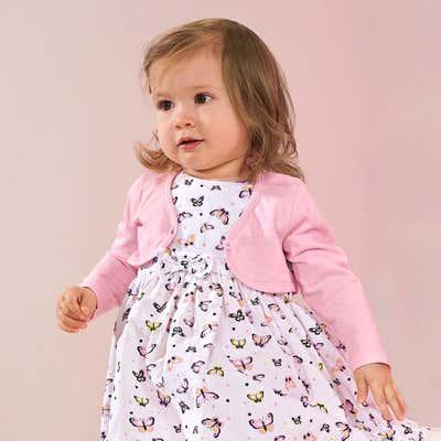 Baby-Mädchen-Bolero mit Knopf