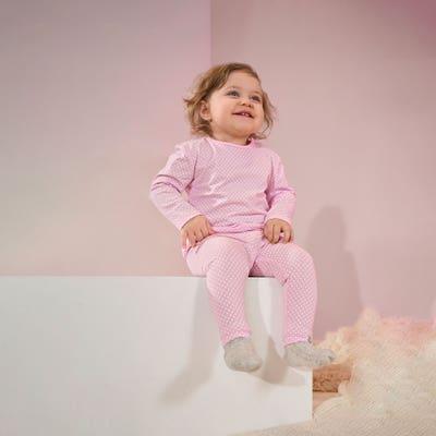 Baby-Mädchen-Leggings mit Punkten, 2er-Set