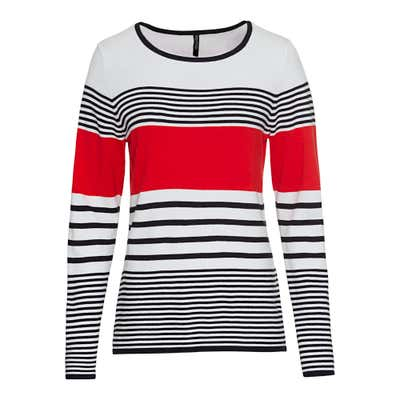 Damen-Pullover mit Ringeldesign