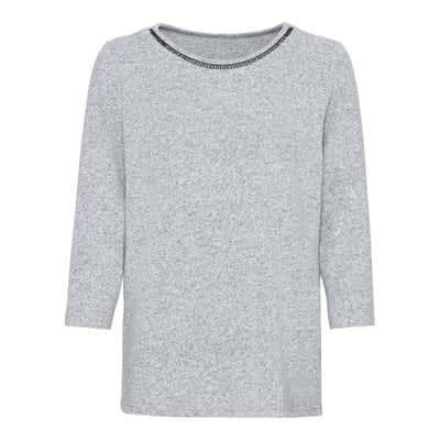 Damen-Sweatshirt mit Spitzeneinsatz