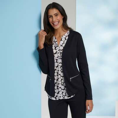 Damen-Blazer mit 2 Reißverschluss-Taschen