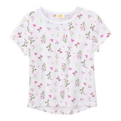 Mädchen-T-Shirt mit floralem Design