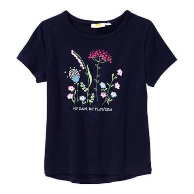 Mädchen-T-Shirt mit Blumen-Aufdruck