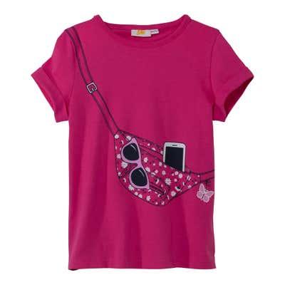 Mädchen-T-Shirt mit aufgedruckter Umhängetasche