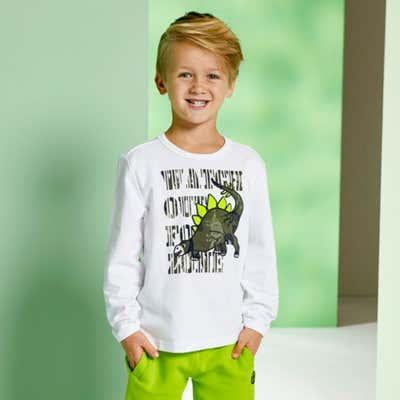 Jungen-Sweatshirt mit Dino-Applikation