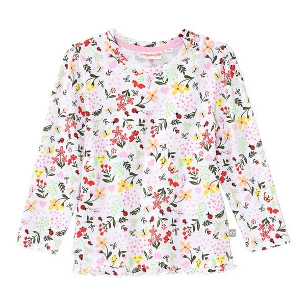 Baby-Mädchen-Shirt mit Rüschen am Saum