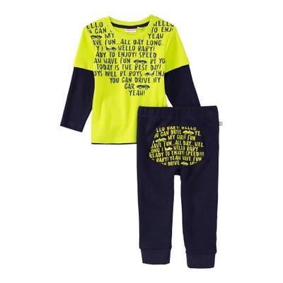Baby-Jungen-Set mit Schriftzug-Design, 2-teilig