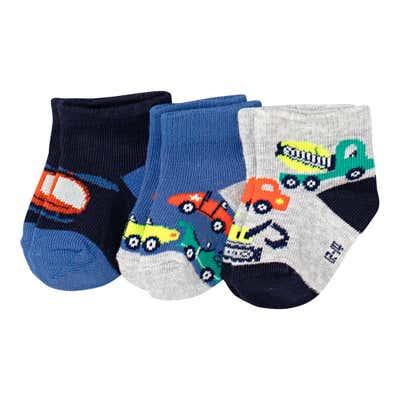 Baby-Jungen-Sneaker-Socken, 3er Pack
