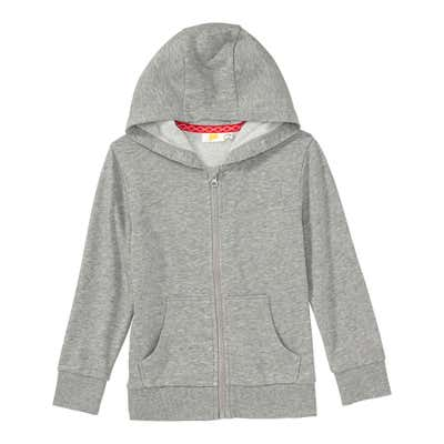 Jungen-Sweatjacke in Melange-Optik
