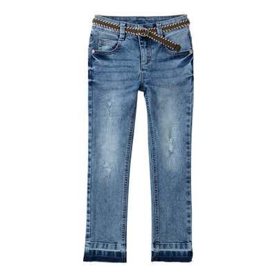 Mädchen-Jeans mit Gürtel