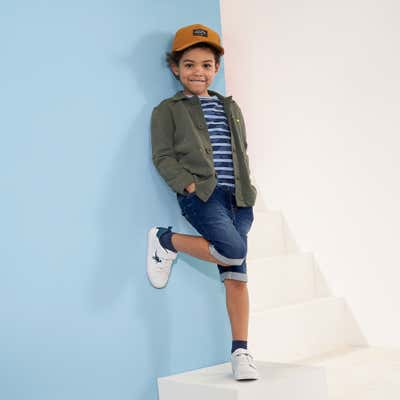 Kinder-Jungen-Bermudas in Jeans-Optik