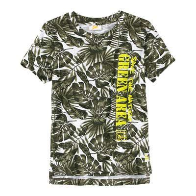 Jungen-T-Shirt mit Palmblatt-Muster