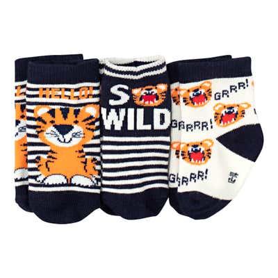 Baby-Jungen-Socken, 3er-Pack