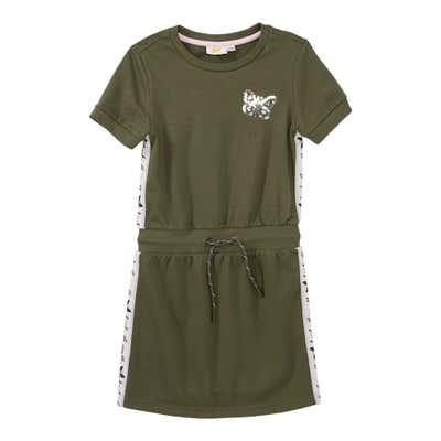 Mädchen-Sweatkleid mit Pailletten-Schmetterling