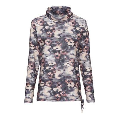 Damen-Sweatshirt mit Kordeln am Saum
