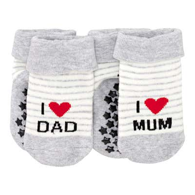 Baby-Socken mit ABS-Noppen, 2er Pack