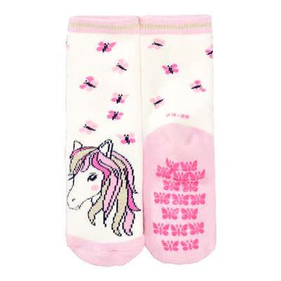 Mädchen-ABS-Socken mit Pferde-Motiv