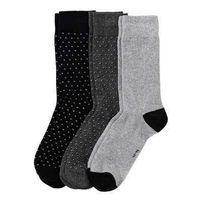 Herren-Socken mit Punkte-Muster, 3er-Pack
