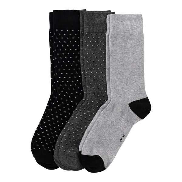 Herren-Socken mit Punkte-Muster, 3er Pack