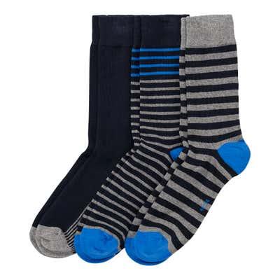 Herren-Socken mit Ringelmuster, 3er-Pack