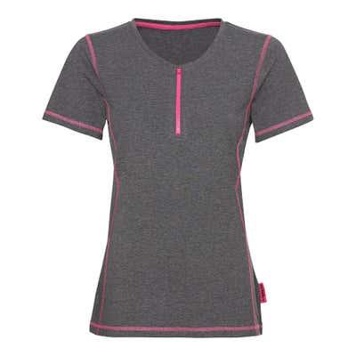 Damen-Fitness-T-Shirt mit Reißverschluss