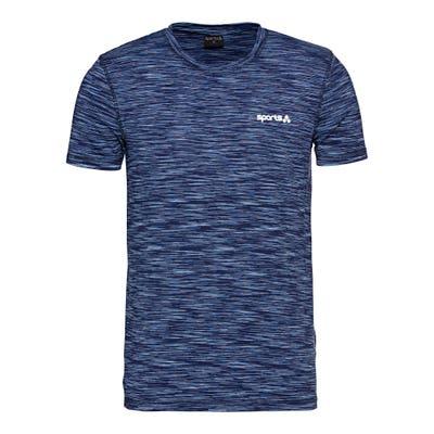 Herren-Fitness-T-Shirt in Space-Dye-Optik