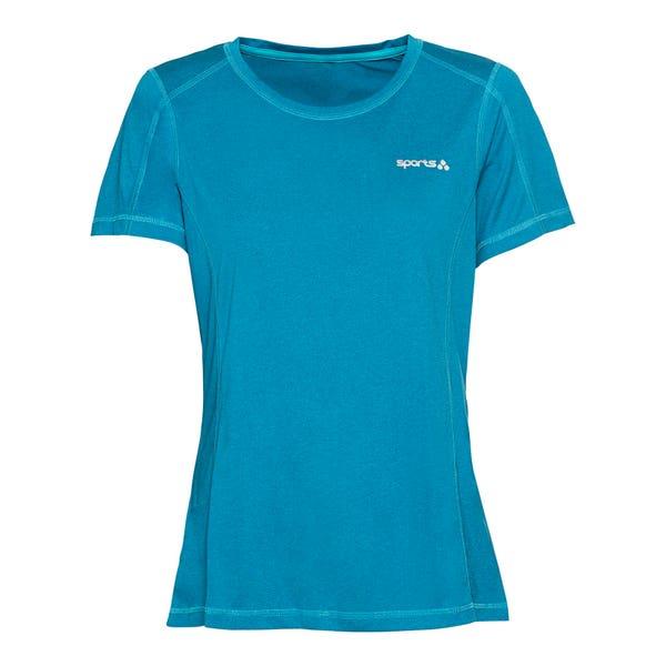 Damen-Fitness-T-Shirt mit Ziernähten