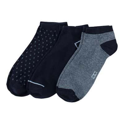 Herren-Sneaker-Socken mit kleinen Rauten, 3er-Pack