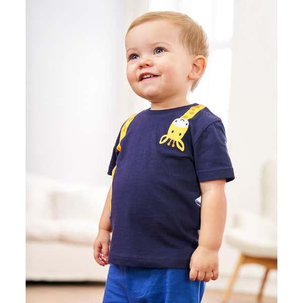Baby-Jungen-T-Shirt mit Giraffendruck