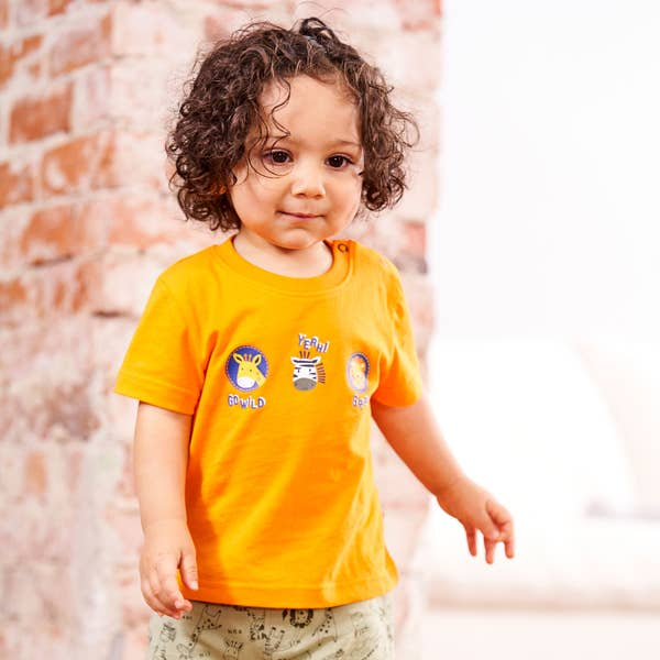 Baby-Jungen-T-Shirt mit Tiermotiv