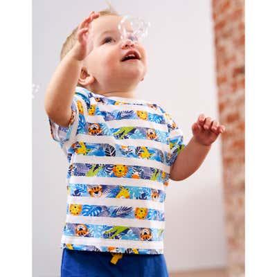Baby-Jungen-T-Shirt mit Streifen
