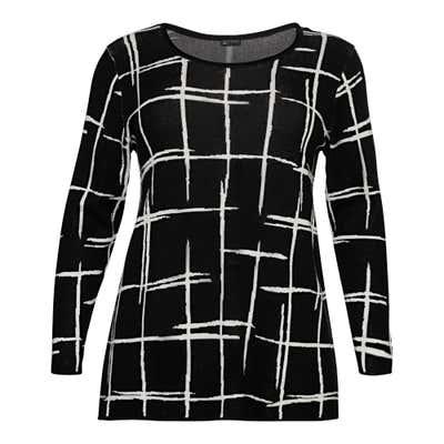 Damen-Pullover mit Karodesign, große Größen