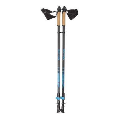 Walking-Stöcke mit Korkgriffen, ca. 80-135cm, 2er Set