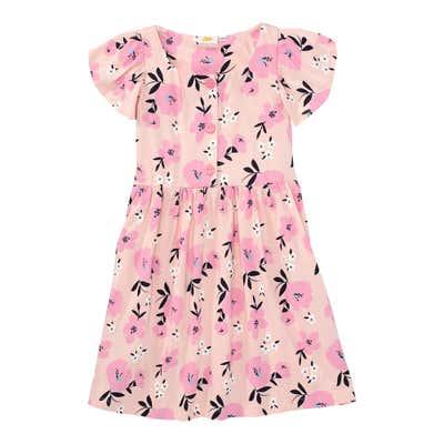Mädchen-Kleid mit Blumenmuster