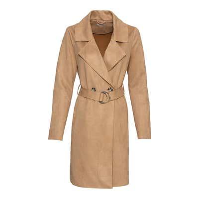 Damen-Mantel in Wildleder-Optik