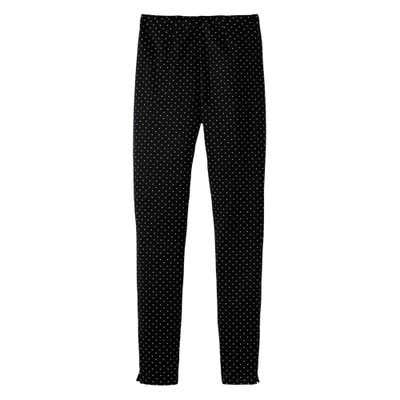 Damen-Scuba-Leggings mit Punkte-Muster