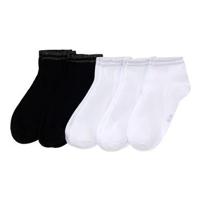 Damen-Sneaker-Socken mit Baumwolle, 5er-Pack