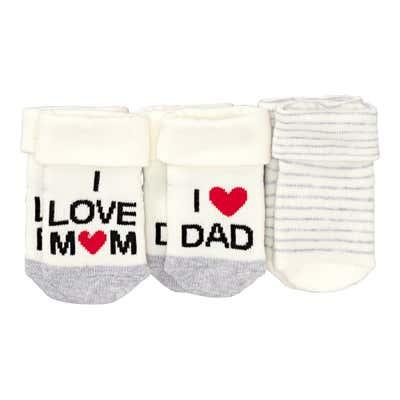 Baby-Socken aus Frottierflausch, 3er Pack