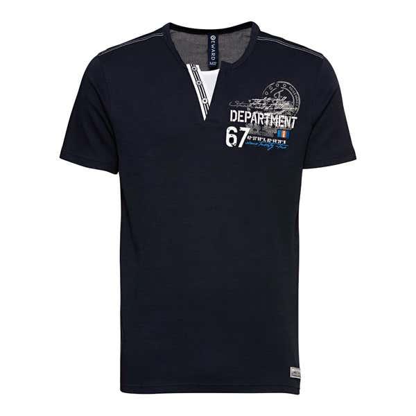 Herren-T-Shirt mit Henley-Kragen
