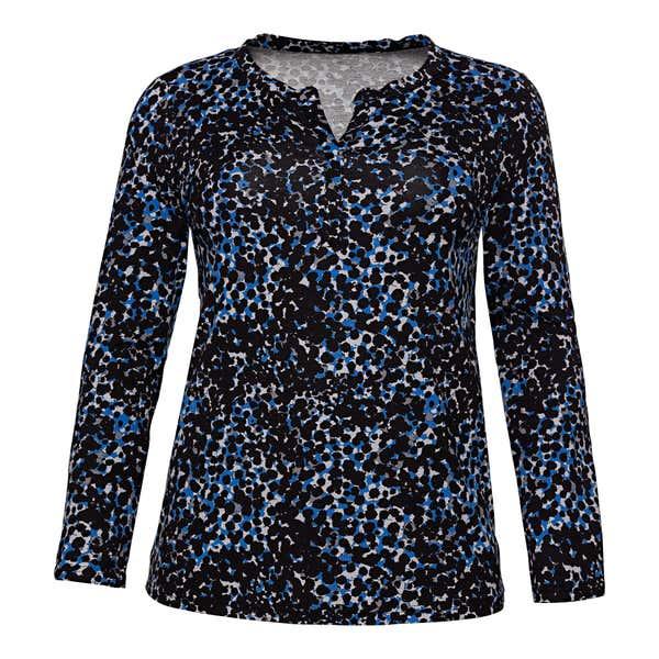Damen-Shirt mit schönem Muster, große Größen