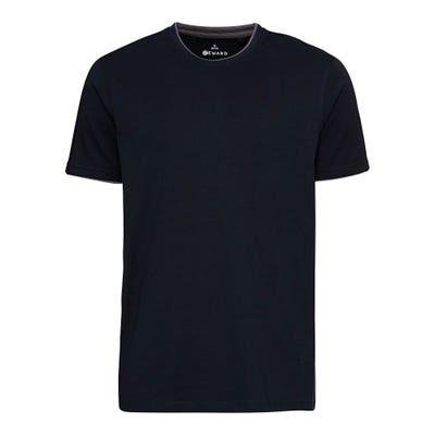Herren-T-Shirt mit Kontrast-Einsatz