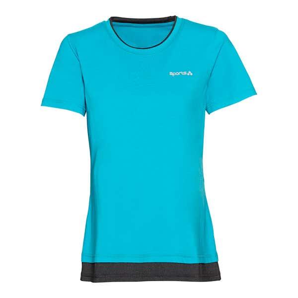 Damen-Fitness-T-Shirt im 2-Lagen-Look
