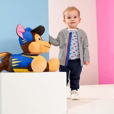 Baby-Jungen-Set mit farbigem Reißverschluss