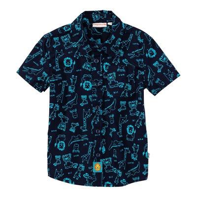 Baby-Jungen-Hemd mit Dschungeltieren