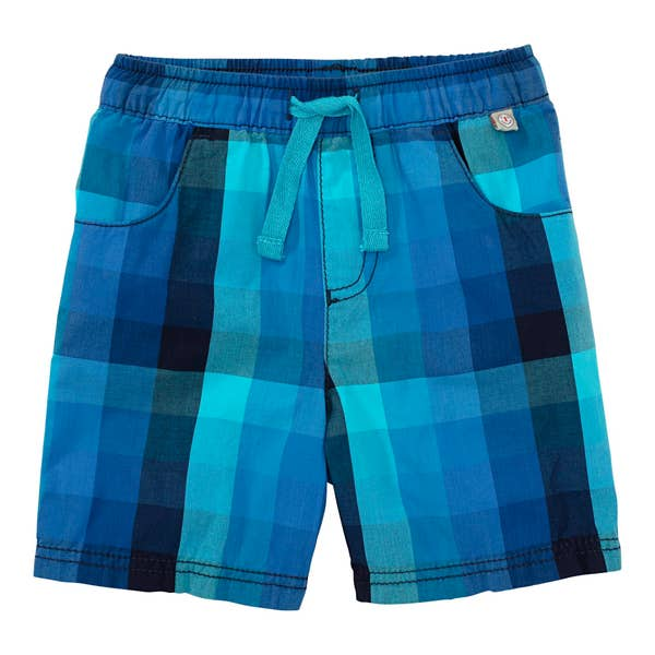 Baby-Jungen-Shorts mit Karomuster