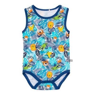 Baby-Jungen-Body mit Dschungel-Design