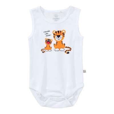 Baby-Jungen-Body mit Tiger-Frontaufdruck
