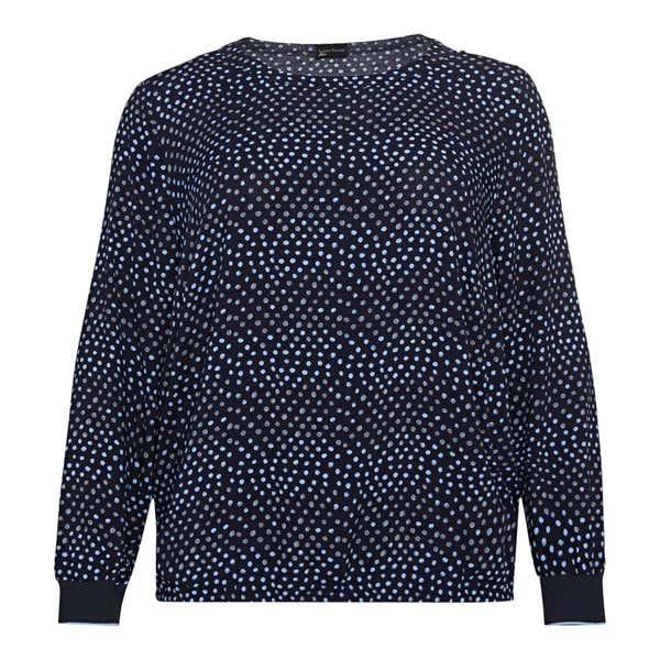Damen-Bluse mit hübschem Muster, große Größen