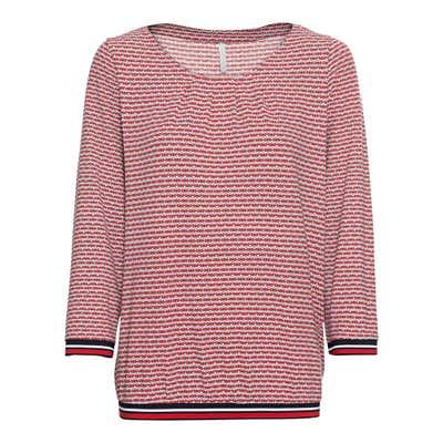 Damen-Sweatshirt mit Ringel-Bündchen