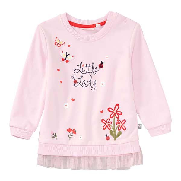 Baby-Mädchen-Sweatshirt mit Mesh-Rüsche